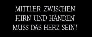 Le carton final de Métropolis (Fritz Lang, 1927)